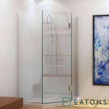 Euroglass Glass-Mounted Swing Door (135° Config)