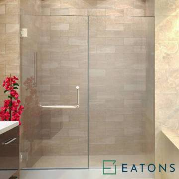 Euroglass Wall-Mounted Swing Door with 1 Fix Panel (Straight Config)