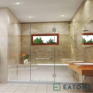 Euroglass Glass-Mounted Swing Door (Straight Config)