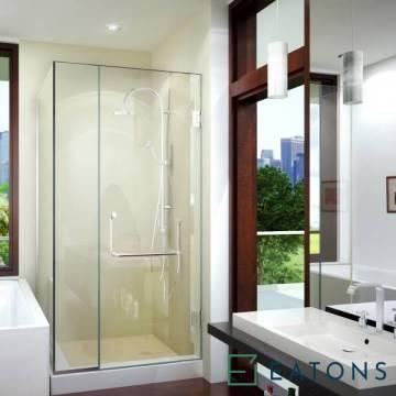 Euroglass Wall-Mounted Swing Door (90° Config)